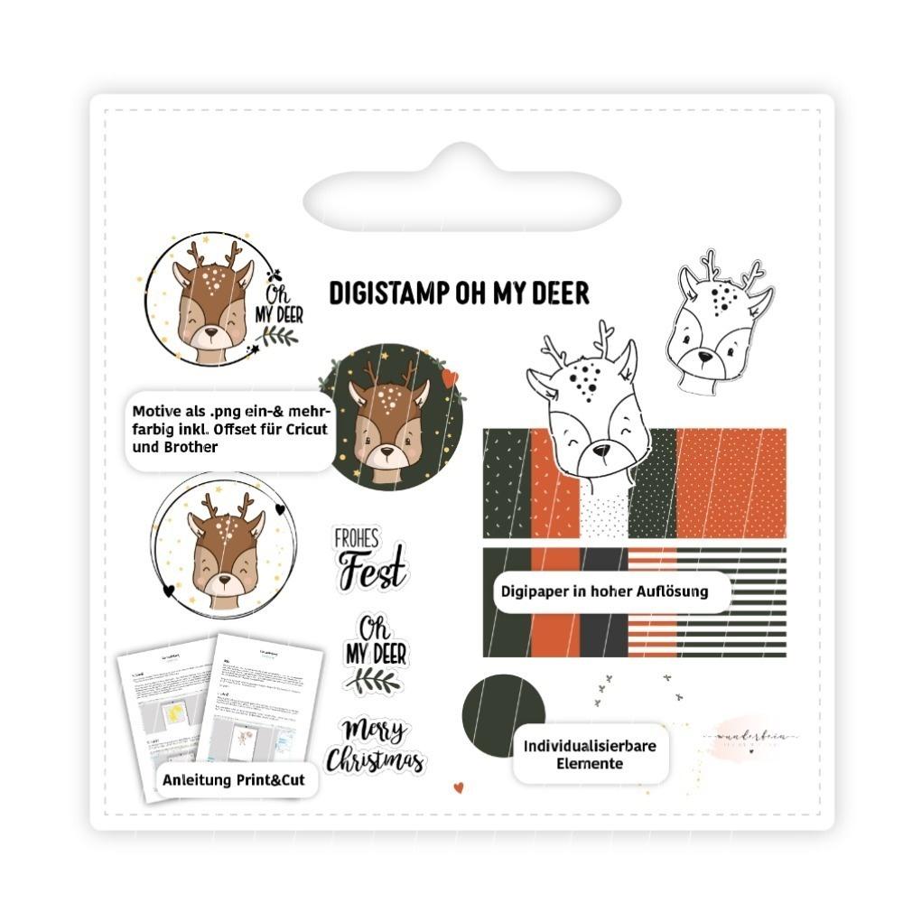 Digistamp Oh my deer – inkl. Digipaper und Kurzanleitung