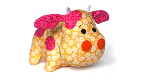 Cow sewing pattern