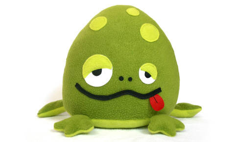 Bubbo the frog sewing pattern
