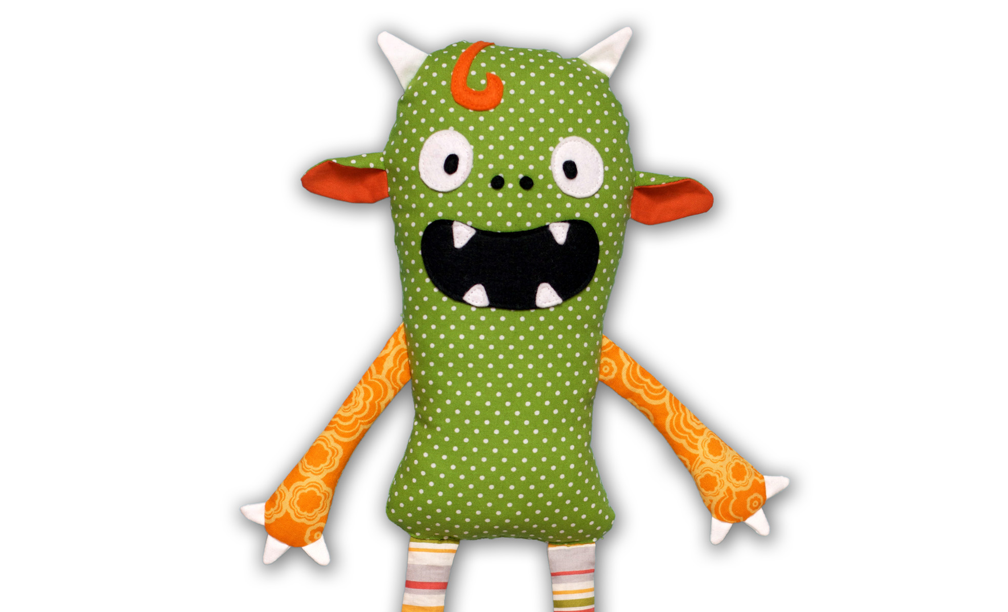 Monster doll sewing pattern