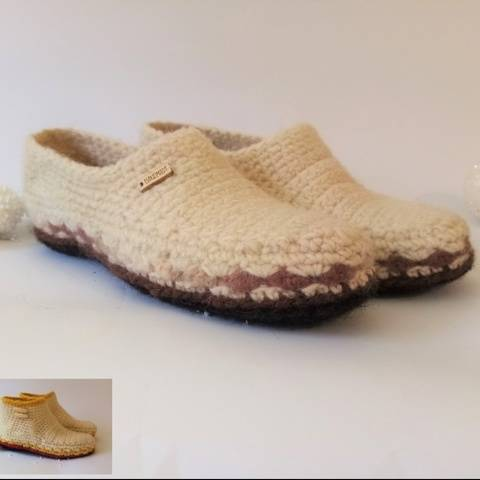 Slippers Boots or Moccasins. Crochet pattern