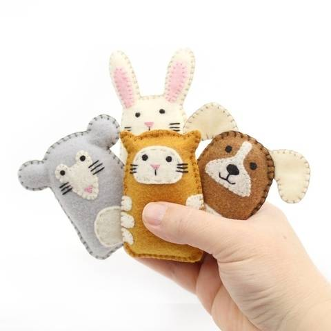 Tiny Animal Hand Sewing Patterns: Cat, Dog, Mouse, Rabbit