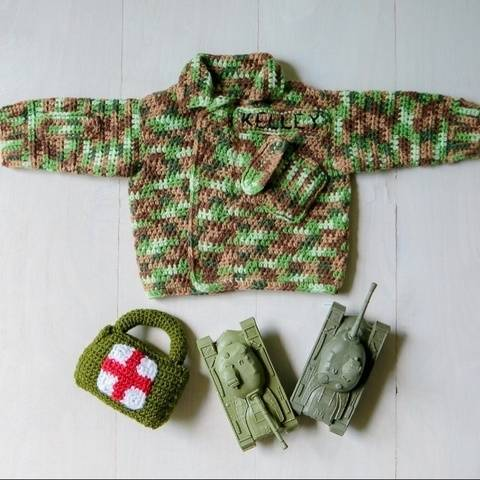 Baby Military Camouflage Sweater