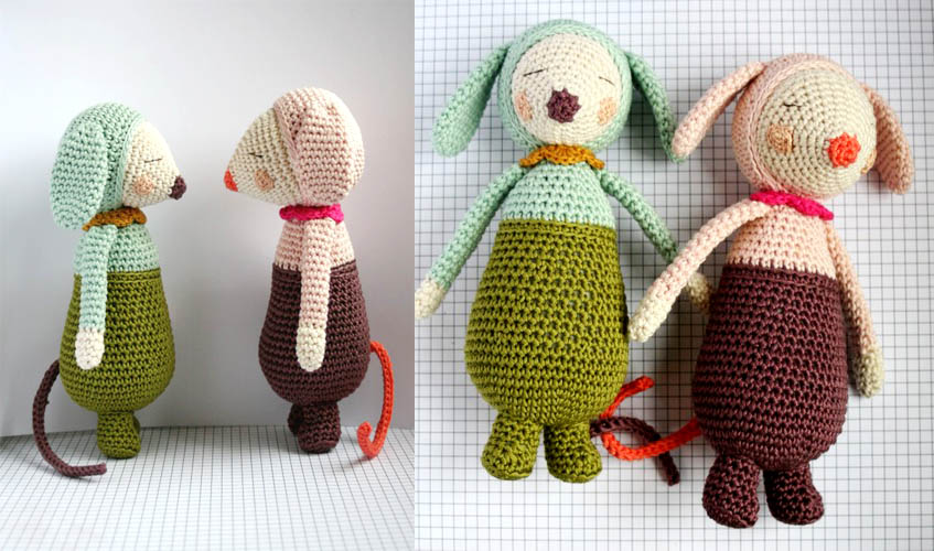 Olive and Violet - Detailed Pattern