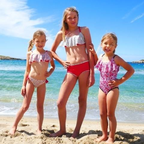 OUVEA swimsuit 2-16 years PDF sewing pattern