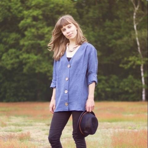 Loose fitting shirt with buttons - PDF pattern - Aggie