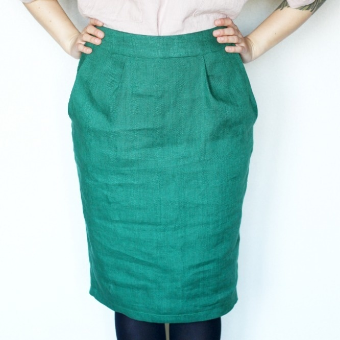 Pencil skirt with pockets - PDF pattern - Coral