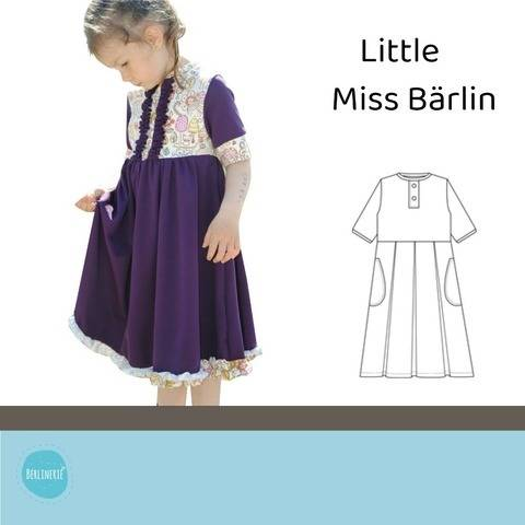 Ebook Kleid Little Miss Bärlin Gr. 86-134