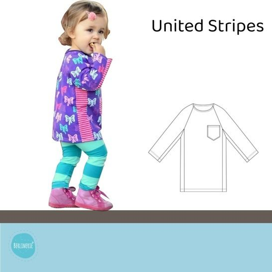 "Ebook Raglanshirt Gr. 80-134 ""United Stripes"" bei Makerist - Bild 1"