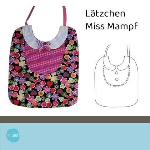 """Ebook Lätzchen """"Miss Mampf"""""""