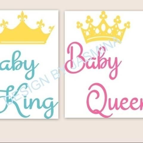 Plotterdatei  Baby King, Baby Queen SVG