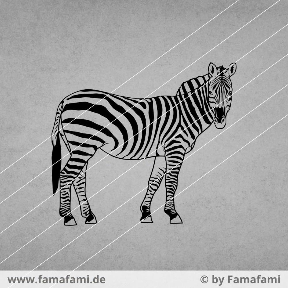 "CUTTING FILE ""ZEBRA #2"" - SVG DXF PNG - FAMAFAMI"