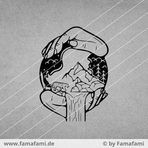 """CUTTING FILE """"MOTHER NATURE"""" - SVG DXF PNG - FAMAFAMI"""
