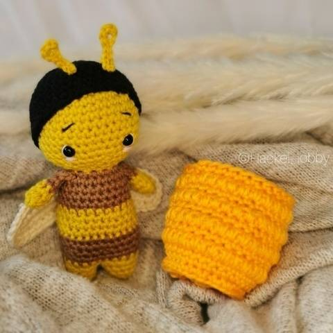 Biene Sommermini Amigurumi Häkelanleitung