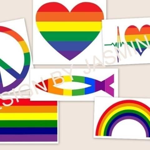 Plotterdatei  Regenbogen Bunt, Herz,Fisch,Fahne, SVG