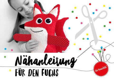 """Fuchs Nähanleitung und Schnittmuster von """"die Knuschels"""" bei Makerist"""