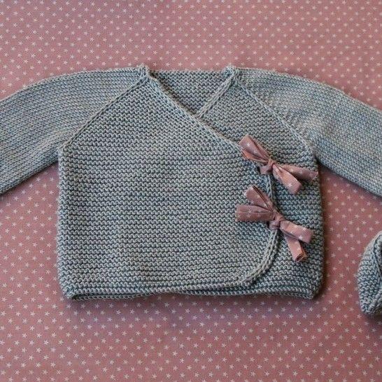 Lil Kimonos - Gilet + chaussons bébé - Grand préma-24m - Tricot chez Makerist - Image 1