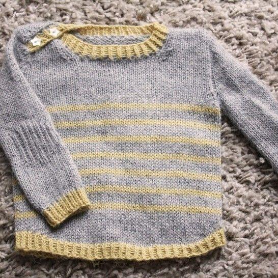 Tout Petit Large - Pull bébé 0-18m - Tricot chez Makerist - Image 1