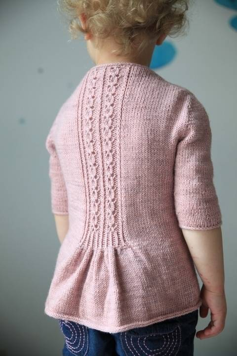 Fleur Bleue Children's Cardigan - Knitting at Makerist