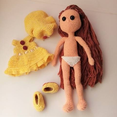 Sofia dool and outfit. Crochet pattern
