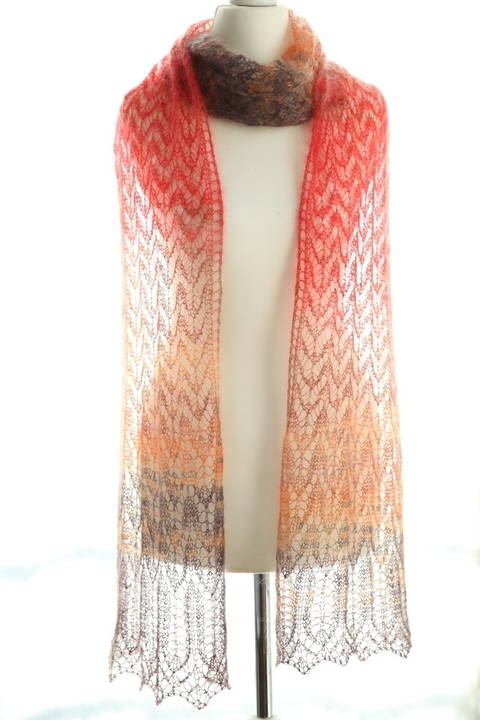Arrow Shawl - Knitting