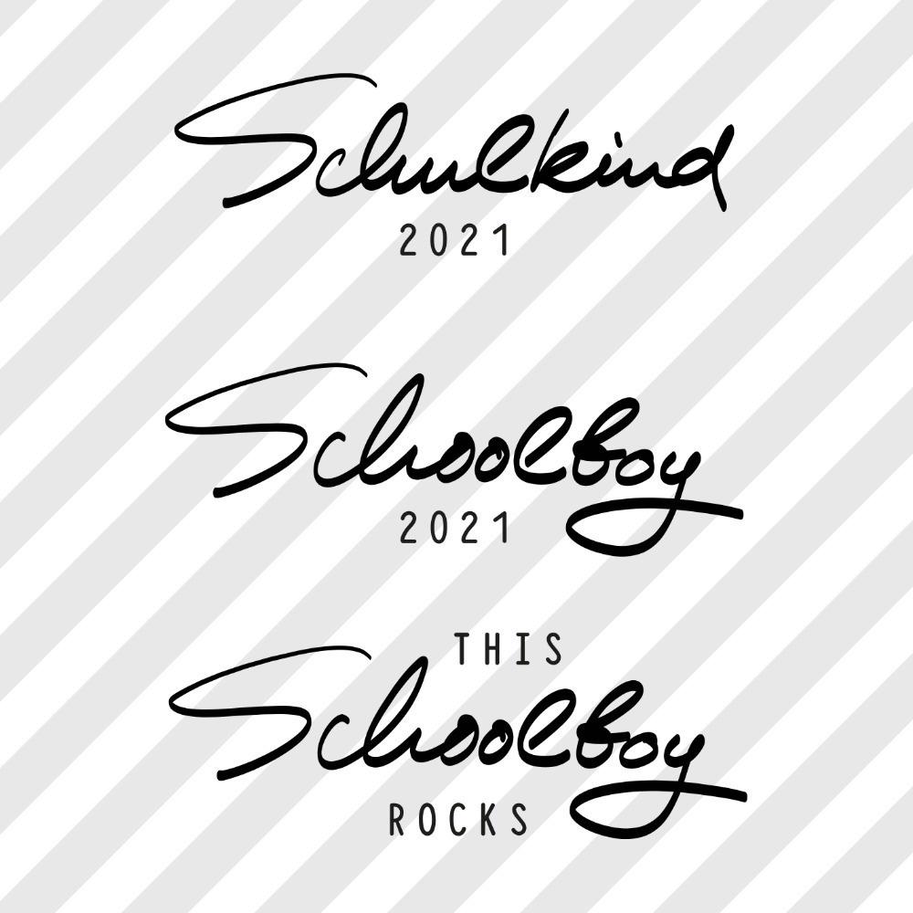 "Plotterdatei Set ""Schulkind 2021 Jungs"""