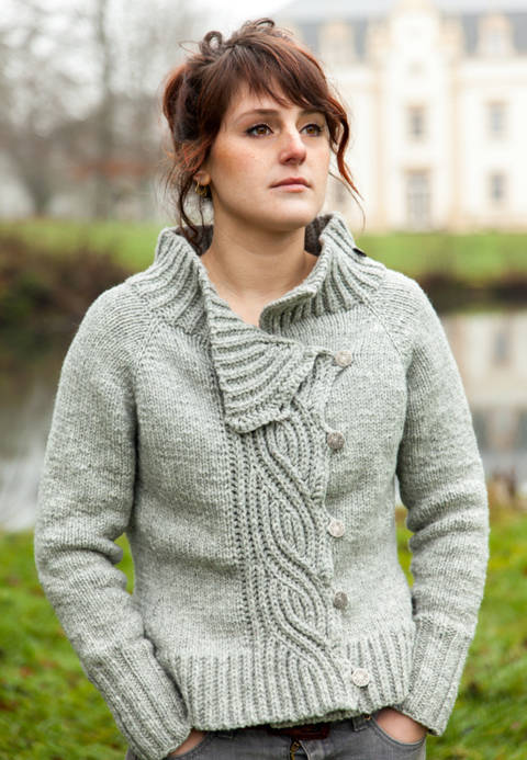 Lagertha Women's Cardigan - Knitting  at Makerist