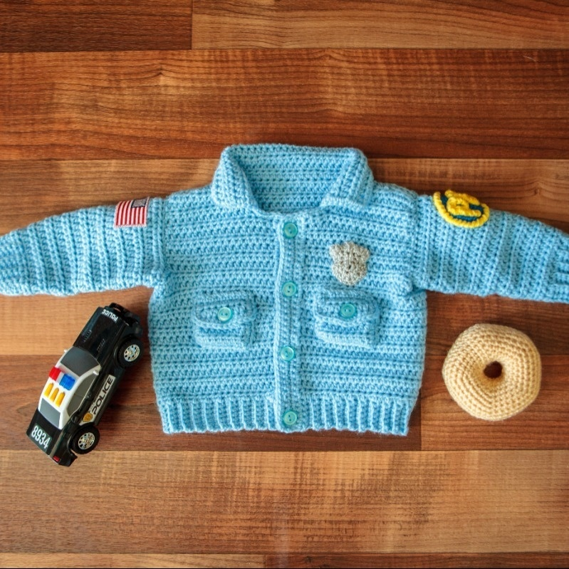 Baby Sweater Police Officer