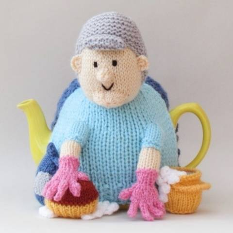 Cleaning Lady Tea Cosy Knitting Pattern