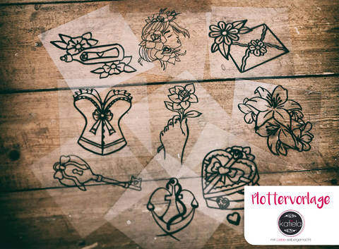 "Plottervorlage Tattoo-Liebelei ""Liebe"" komplett"