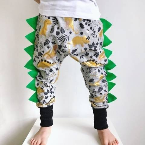 Dinosaur harem pants with spikes sewing pattern