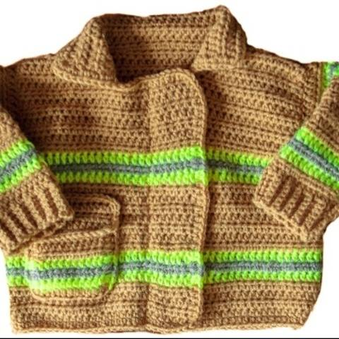 Firefighter Baby Sweater