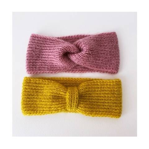 Mimosa and rosewood headbands