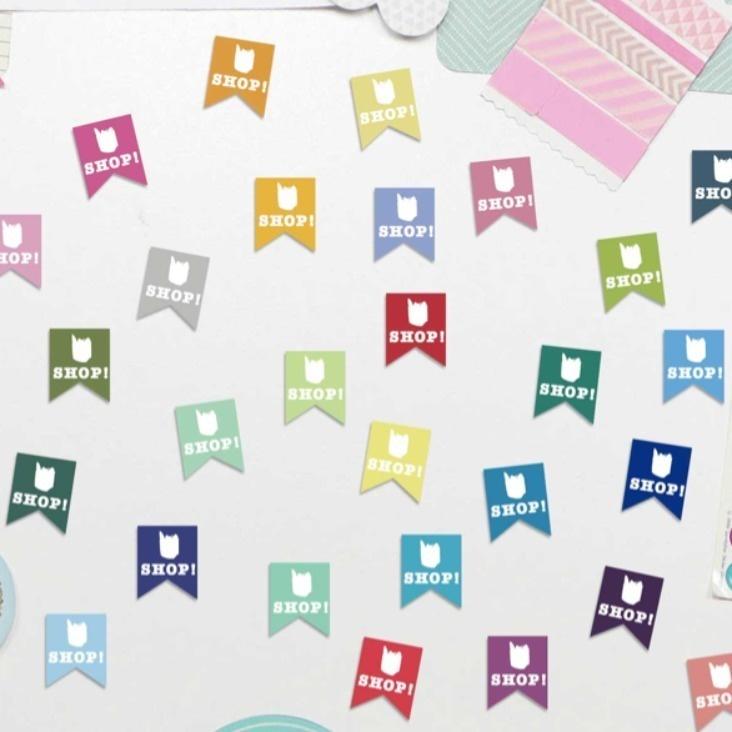 Shop Sticker Einkaufssticker