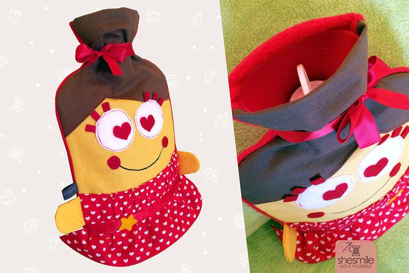 """Wärmflaschenüberzug """"Fräulein Schlove"""" (Nähanleitung und Schnittmuster) bei Makerist - Bild 1"""