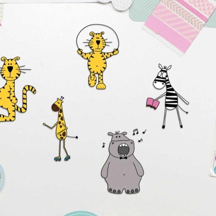 Zoo Sticker Tiere Zoo Sticker