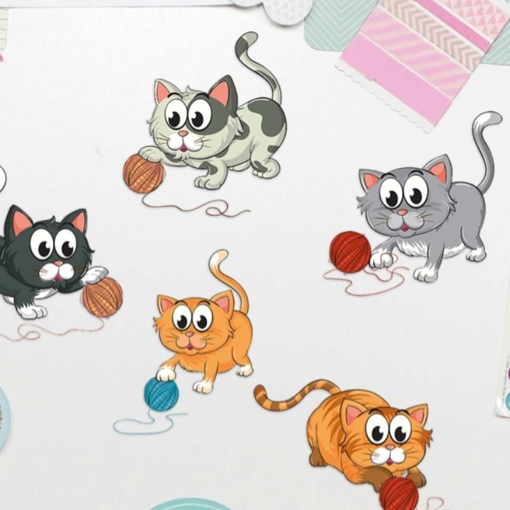 Spielende Katzen Sticker Playing Cats