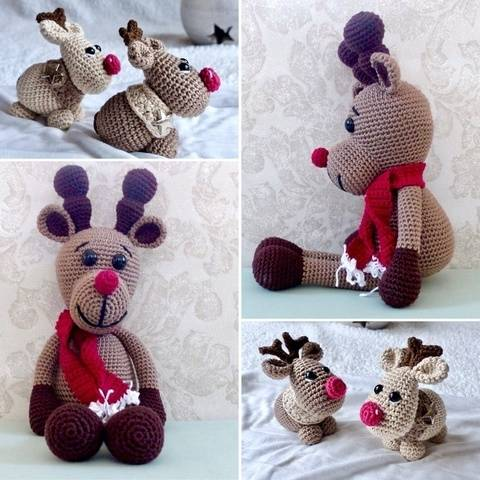 Rudolph - The Red Nosed Elch im Set