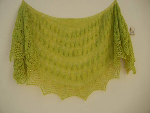 Alegranza Shawl - Knitting