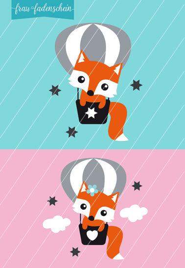 Applikation Foxy Fuchs – Fly Away: Vorlage & Anleitung bei Makerist - Bild 1
