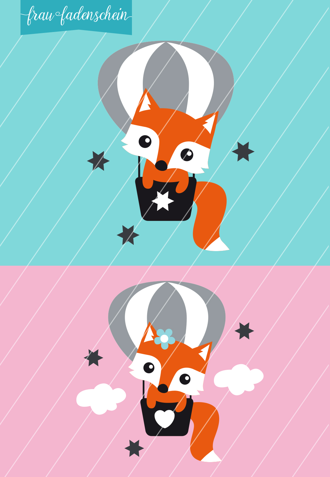 Applikation Foxy Fuchs – Fly Away: Vorlage & Anleitung