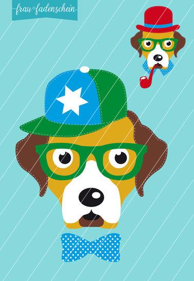 Applikation Hipster-Hund-Theo: Vorlage & Anleitung bei Makerist - Bild 1
