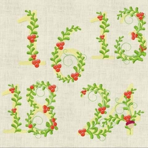 Stickdatei  Adventskalender  Zahlen Weihnachten 641
