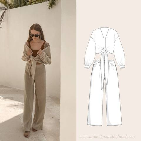 Schnittmuster Set: Culotte & Bluse - 34-44