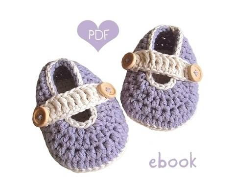 ❤ Häkelanleitung  ❤ Lavandula Baby Loafers bei Makerist