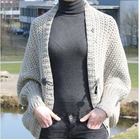 "Crochet Pattern: Cardigan ""Companion"", Size 36-46"
