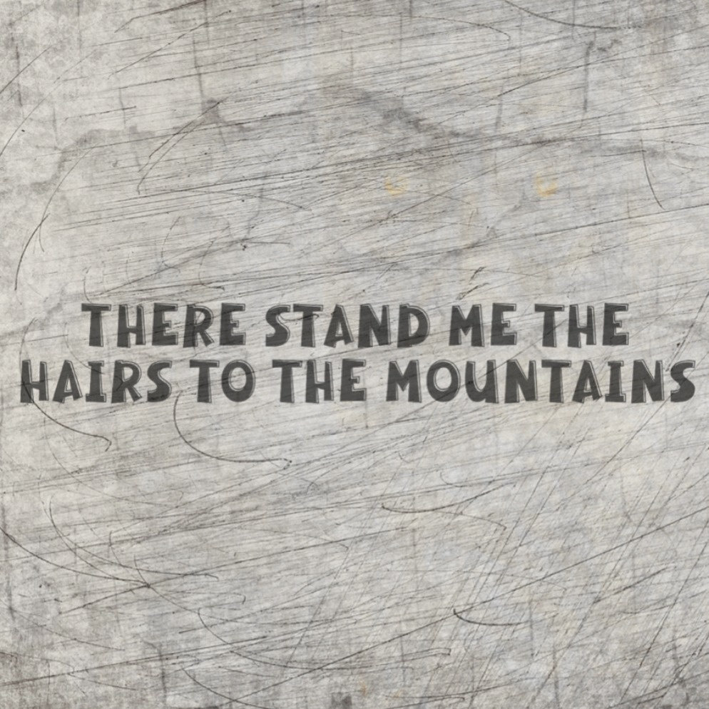 *There stand me the hairs to the mountains* Plotterdatei