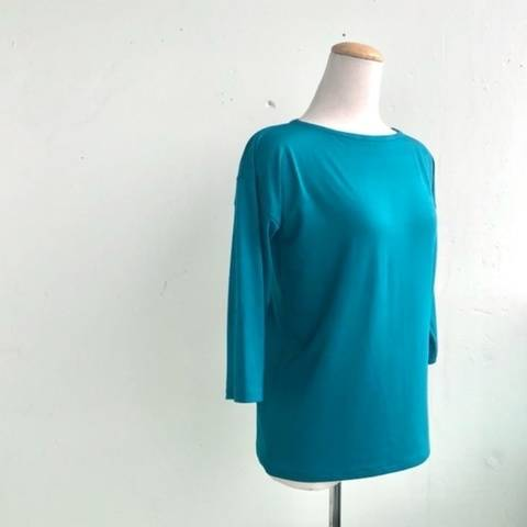 Knit Pullover With Boat Neckline, Sizes XS to 3X