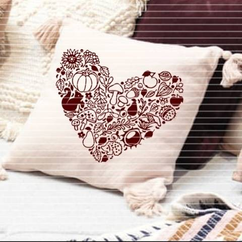 """File """"Autumn heart"""" Ironing-picture SVG DXF"""