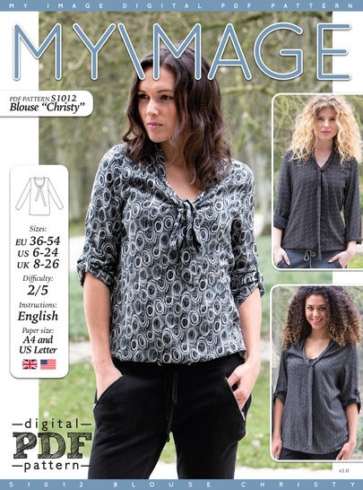 Blouse CHRISTY PDF Pattern + Tutorial at Makerist - Image 1